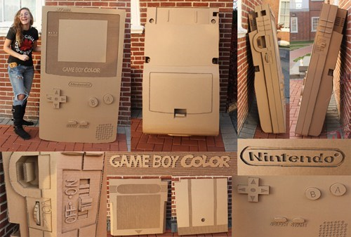 IRL,game boy,gamers,crafts,cardboard