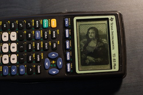 mona lisa,calculator,masterpiece