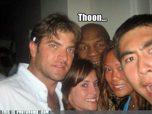 photobomb SOON lisp mike tyson