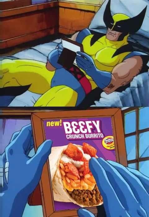 taco bell eww beefy wolverine - 6847634432