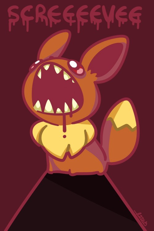 scary,eevee,eeveelution