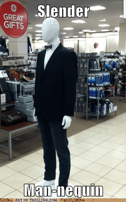 mannequin clothing store slenderman - 6847761920