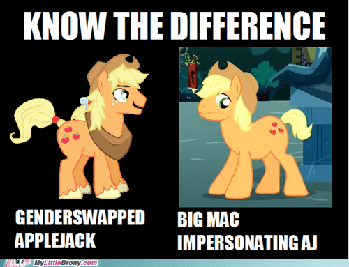 applejack big mac rule 63 know the difference