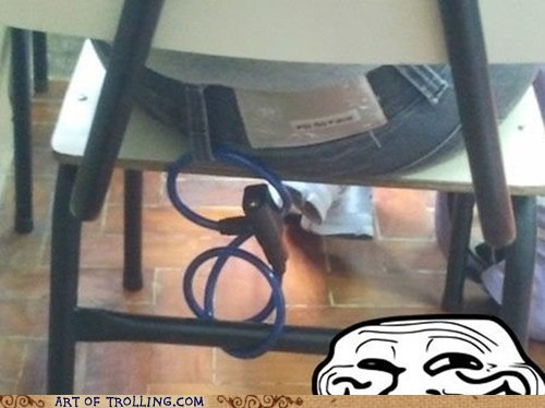 chair,good idea,awesome,bike lock