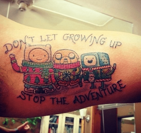 christmas tattoos,adventure time