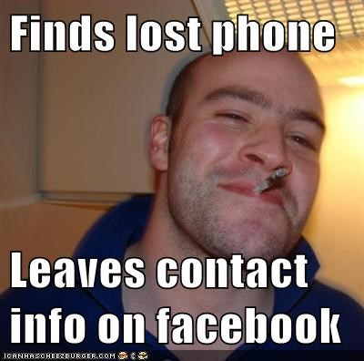 Finds Lost Phone Leaves Contact Info On Facebook Memebase