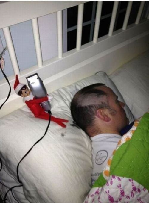 buzz cut elf shave prank sleeping fail nation g rated Hall of Fame best of week