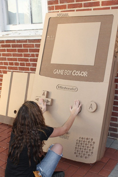 nerdgasm,DIY,video games,gameboy,cardboard