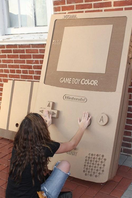 nerdgasm DIY video games gameboy cardboard - 6848273664