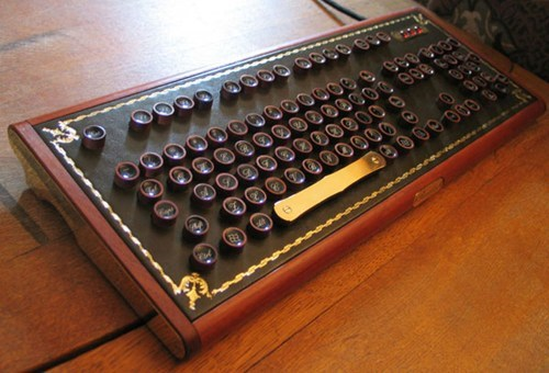computers Steampunk design nerdgasm keyboard - 6848278528