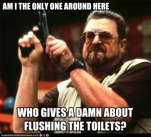 peetimes am i the only one around here flushing