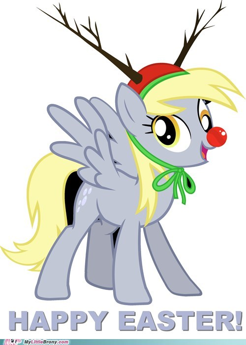 christmas hnnnng derpy hooves cute rudolph - 6848482304