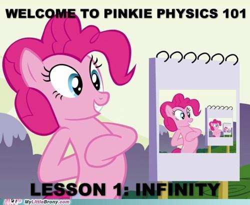 physics,infinity,pronkie pie,pinkie pie,oh pinkie