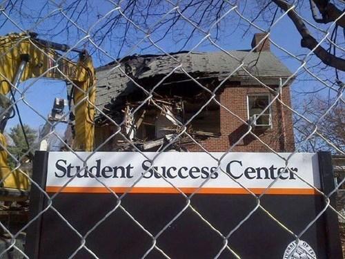 sign school success irony demolition - 6848600832