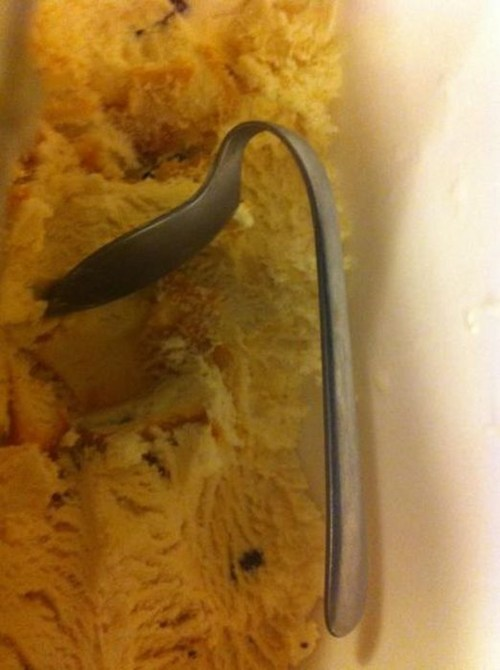 spoon ice cream dessert