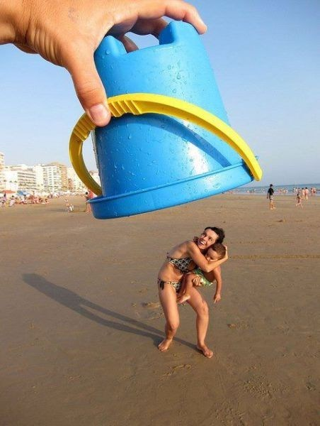 cute beach bucket perspective - 6848605696