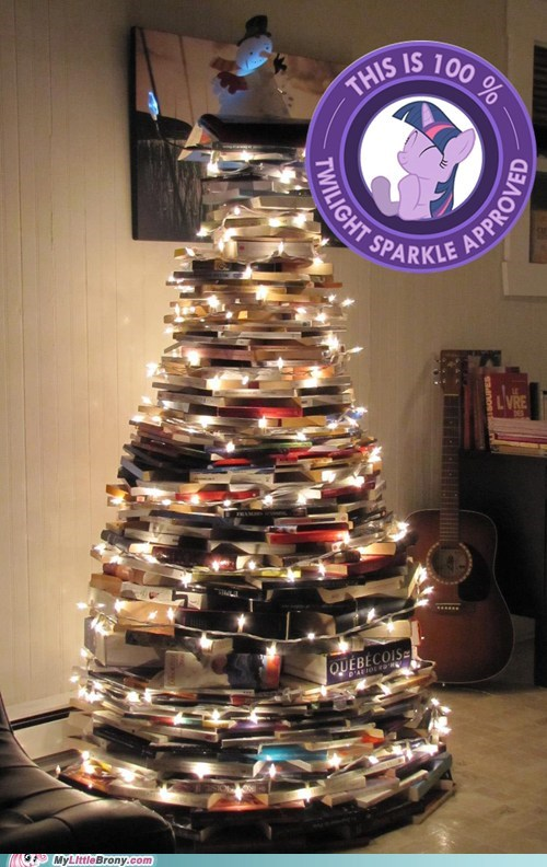 approved,christmas tree,twilight sparkle,book tree,jingle memes