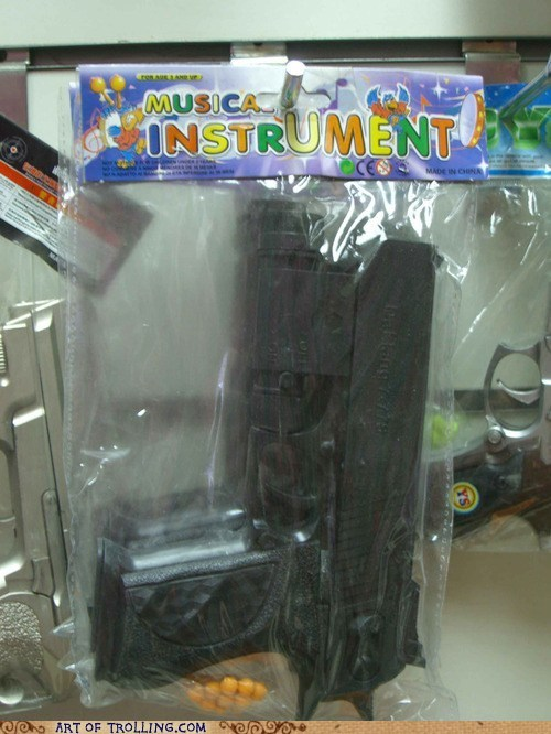 guns,kids toys,musical instruments