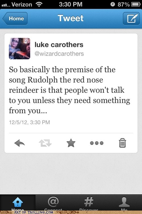 christmas,rudolph the red nosed reindeer,twitter,story