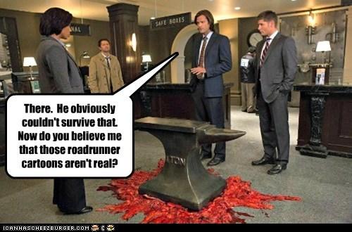jensen ackles anvil Supernatural dean winchester misha collins sam winchester Jared Padalecki cartoons castiel survive - 6849149696