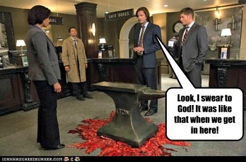 jensen ackles anvil crushed Supernatural dean winchester misha collins sam winchester Jared Padalecki castiel fallen - 6849176064