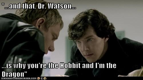 benedict cumberbatch dragon Martin Freeman Sherlock bbc hobbit Watson - 6849334272