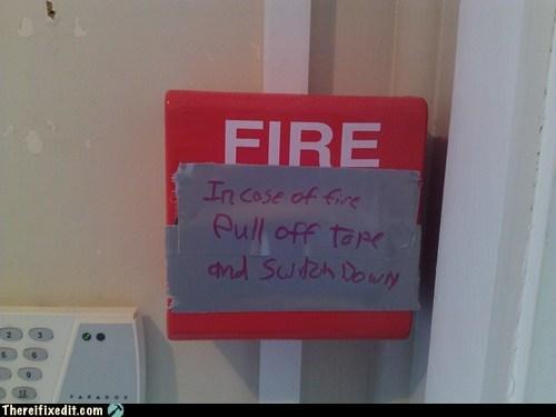in case of fire fire alarm - 6849729024