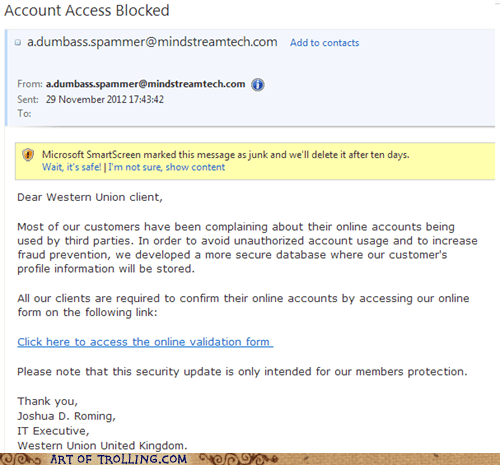 who knew,spammer,idiots