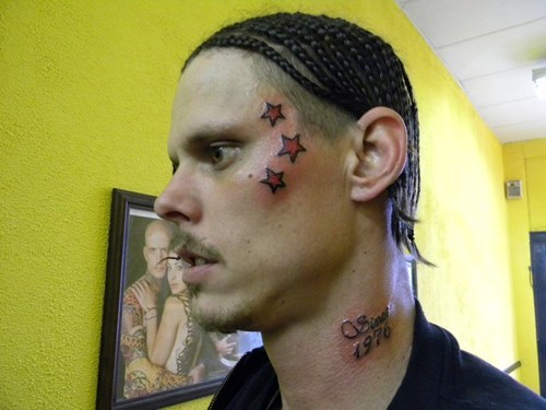 face tattoos stars - 6850457600