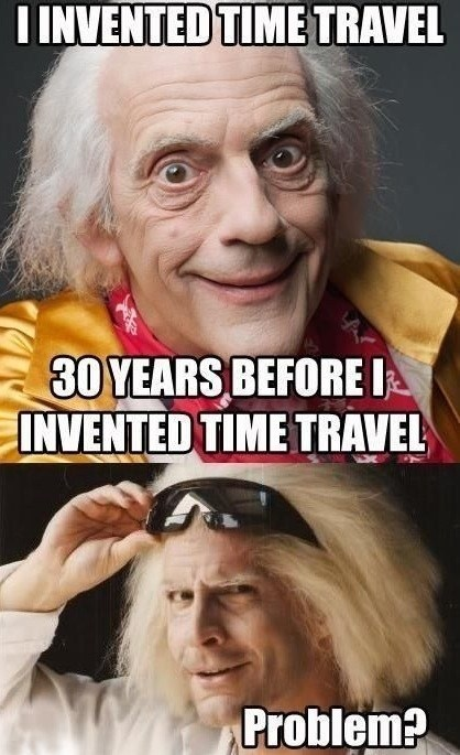 back to the future Doc Brown time travel - 6850498816