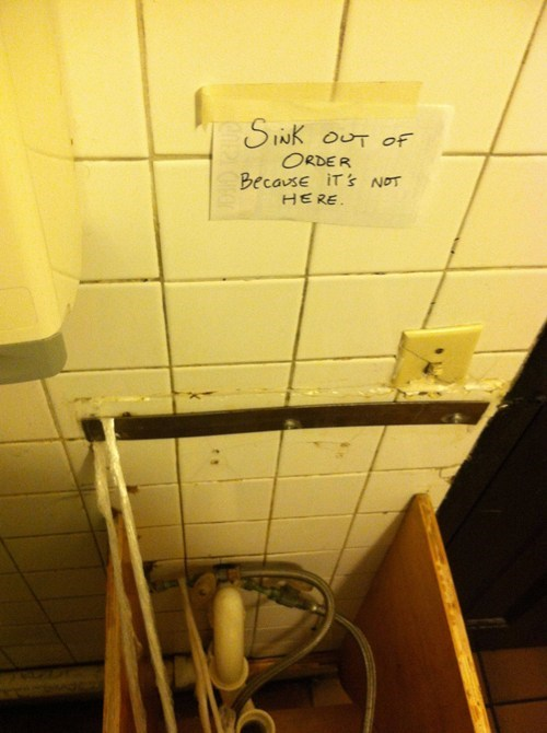out of order,sink,bathroom