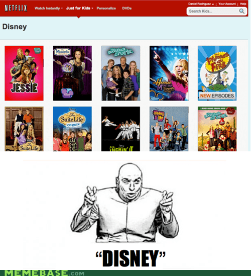 dr evil air quotes,disney,netflix