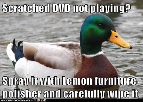 furniture polish,Actual Advice Mallard,dvds