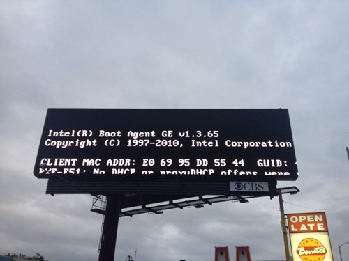 billboard,error screen,error message,intel boot agent
