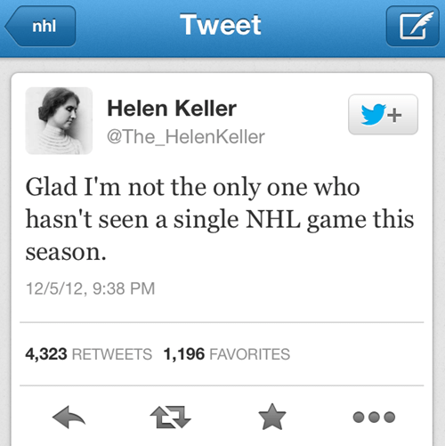 helen keller hockey NHL failbook g rated - 6850721792