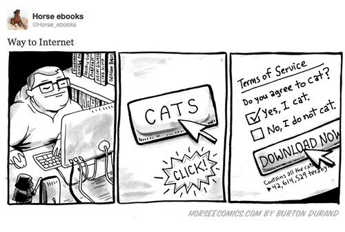 illustrations,internet,comics,horse ebooks,Cats,horse e-comics