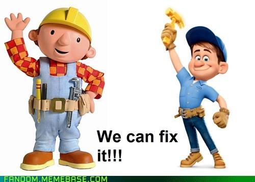 crossover,fix it felix jr,bob the builder