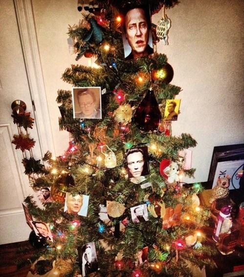 christmas actor christopher walken tree funny holidays - 6851082496