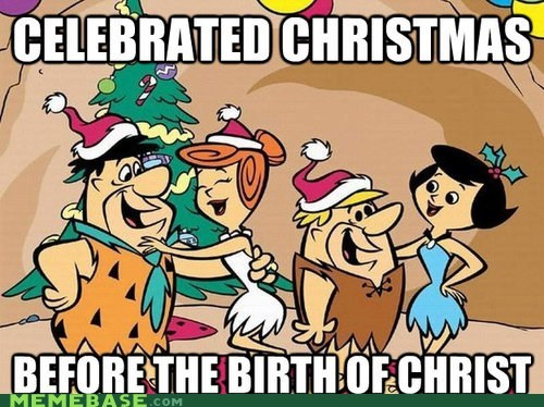 pagans christmas The Flintstones jingle memes hipsters cartoons - 6851087360