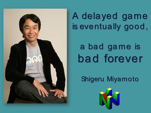 shigeru miyamoto delayed bad games nintendo