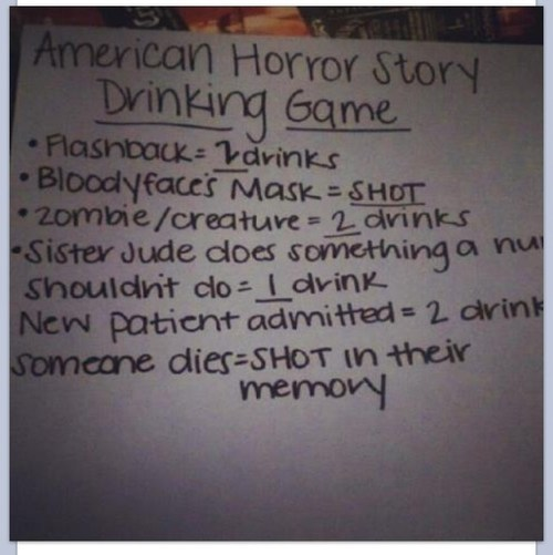 american horror story tv shows drinking games after 12 - 6851247616