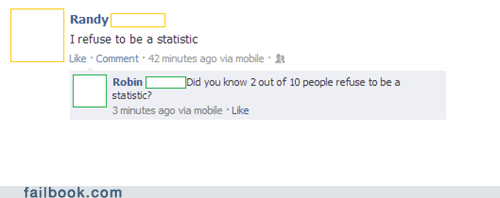 i refuse to be a statistic,Statistics