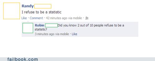 i refuse to be a statistic Statistics - 6851283968