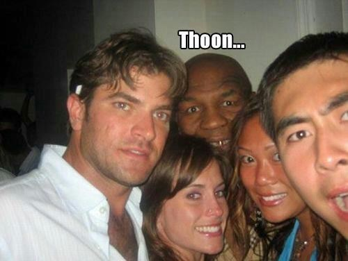 photobomb SOON creepy lisp mike tyson