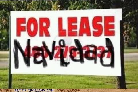 sign feliz navidad for lease