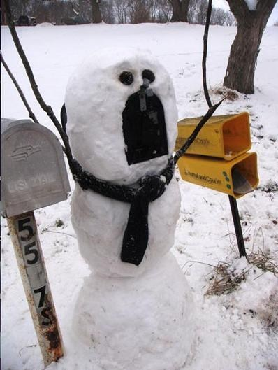 mail box cute winter snowman - 6851697152