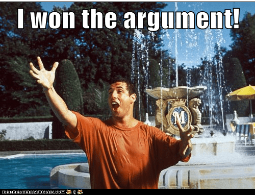 that feel,celebration,adam sandler,argument,won,fountain