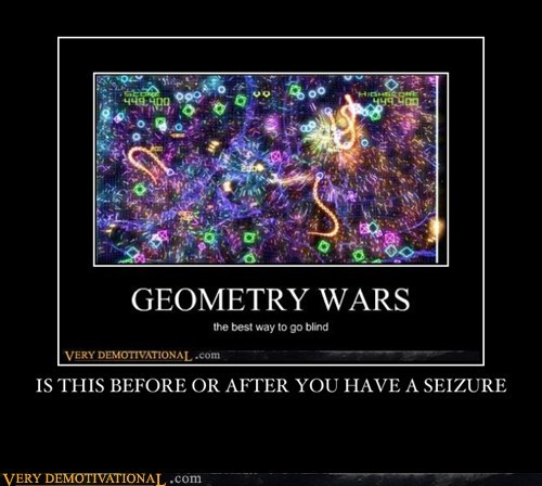 seizure Geometry Wars video games