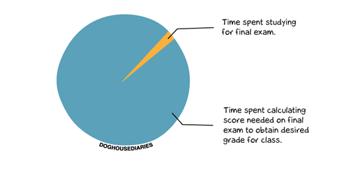 school finals grades test college Pie Chart - 6851945472