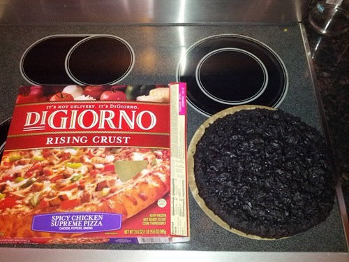 pizza baking digiorno food